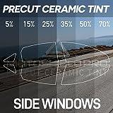 MotoShield Pro Precut Ceramic Tint Film [Blocks Up to 99% of UV/IRR Rays] Window Tint for Cars, Coupes - All Side Windows, Any Tint Shade