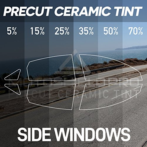 MotoShield Pro PreCut Ceramic Tint Film for All Side Windows Any Tint Shade for Sedan and ()