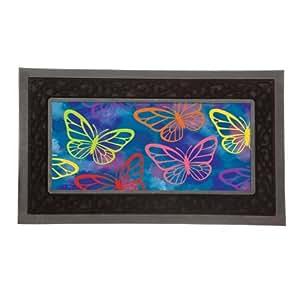 Sassafras Mat Set, Mat size: 10x22 Inches, Scroll Mat Fram Size: 18x30 Inches, Brilliant Butterfly