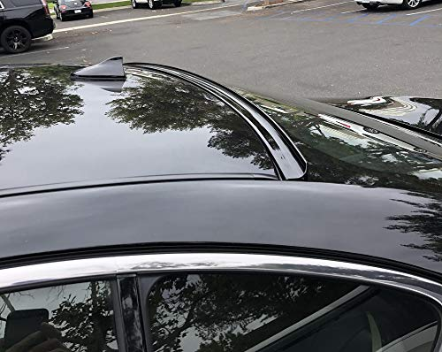 JR2 Painted Black Color for 2009 2010 2011 2012 2013 2014 Nissan Maxima A35 Rear Window Roof Spoiler ()