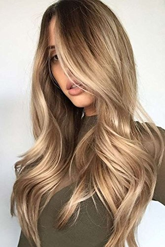 Amazoncom Laavoo 14 Inch Ombre Color 10 Golden Brown To 24