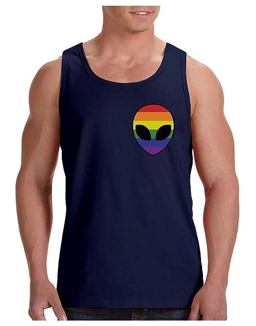 Camiseta de Tirantes Hombre - Gay Alien Head Rainbow Flag - Ropa LGBT, Gay Pride: Amazon.es: Ropa y accesorios