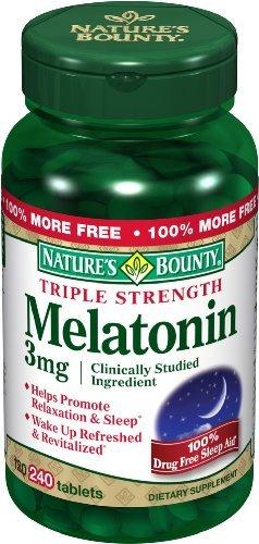 La mélatonine générosité de la nature, 3 mg, 240 comprimés