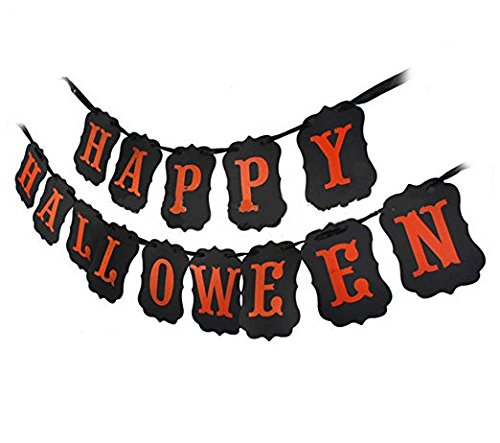 Cute Happy Halloween Pictures - Errollina Happy Halloween Banner Hallowmas Party Decorations Festival Home Party Supplies Door Cover Garden Decor Photo Props Hanging Accessory