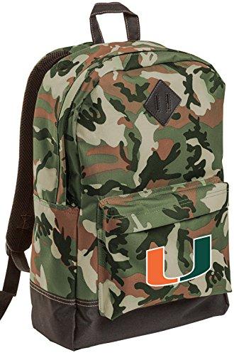 University of Miami CAMO Backpack MEDIUM Miami Hurricanes - Camo Hurricanes Miami