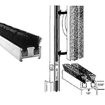 Commercial Entrance Door Astragal Weatherstripping 84 In Long