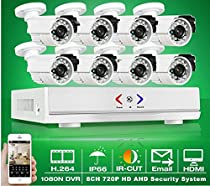 GOWE 8CH Security System 1080N HDMI DVR AHD Set 720P 1800TVL IR Outdoor Camera Home CCTV Video Surveillance Kits Email Alert