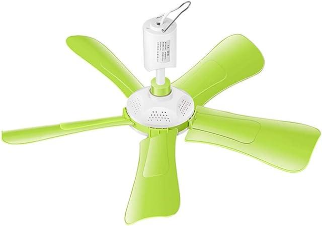 Fan Fan Ventilador de Techo pequeño, Verde 10W Dormitorio pequeño ...