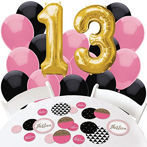 Big Dot of Happiness Chic 13th Birthday -