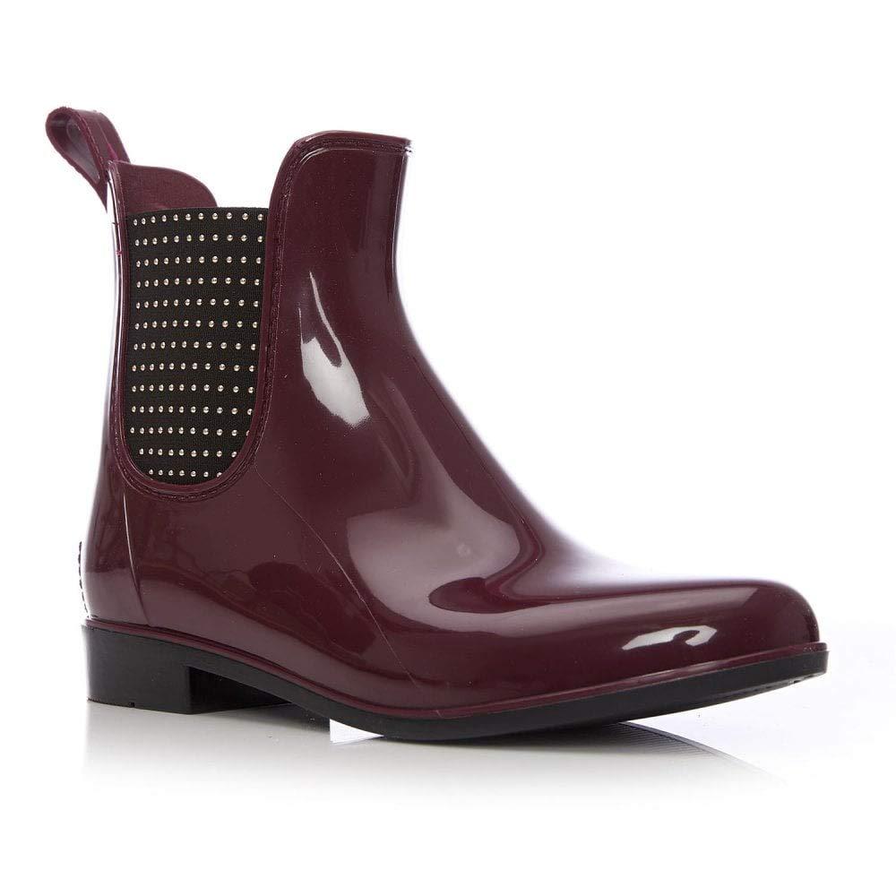 Moda in Pelle, Damen Stiefel Stiefel Stiefel & Stiefeletten Rot burgunderfarben 0201cb