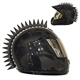 customTAYLOR33 Even Spikes Rubber Mohawk Helmet Accessory Piece (Helmet Not Included)