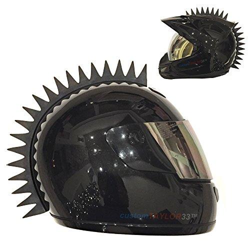 Customtaylor33 Even Spikes Rubber Mohawk Helmet Accessory Piece  Helmet Not Included