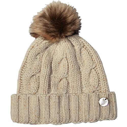 Guinness Cable Knit Bobble Hat, Natural Colour ()