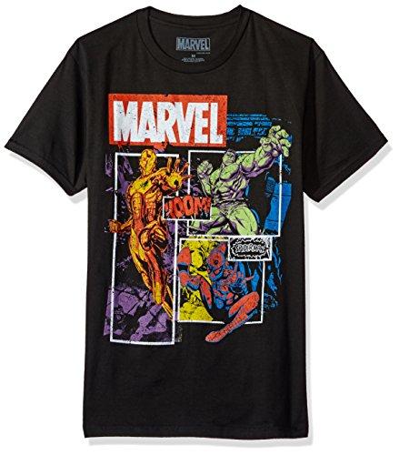 Herren Marvel Comics Squared Up T Shirt Schwarz S Schwarz