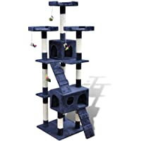 VidaXL Cat Tree Cat Scratching Post 170 cm 2 Condos Dark Blue