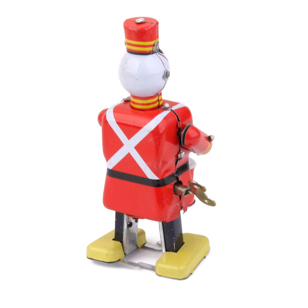 MagiDeal Jouet M/écanique Ancien M/étal Robot De Soldat Batteu Collection Cadeaux pour Enfants