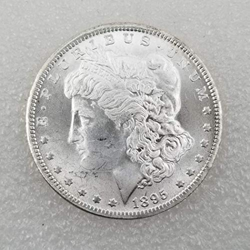 OppoLing 1895 U.S. Liberty Antique Morgan One Dollars - Great American Coin - US Old Coins- USA Original Morgan Uncirculated Us Mint Best ()