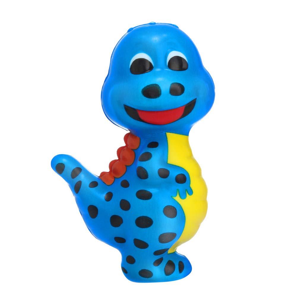 LikeroChildren Education,Squishy Kawaii Squishies Cartoon Dinosaur,Slow Rising Cream Scented Stress Relief Toys,Stress Relief Toys (Blue)