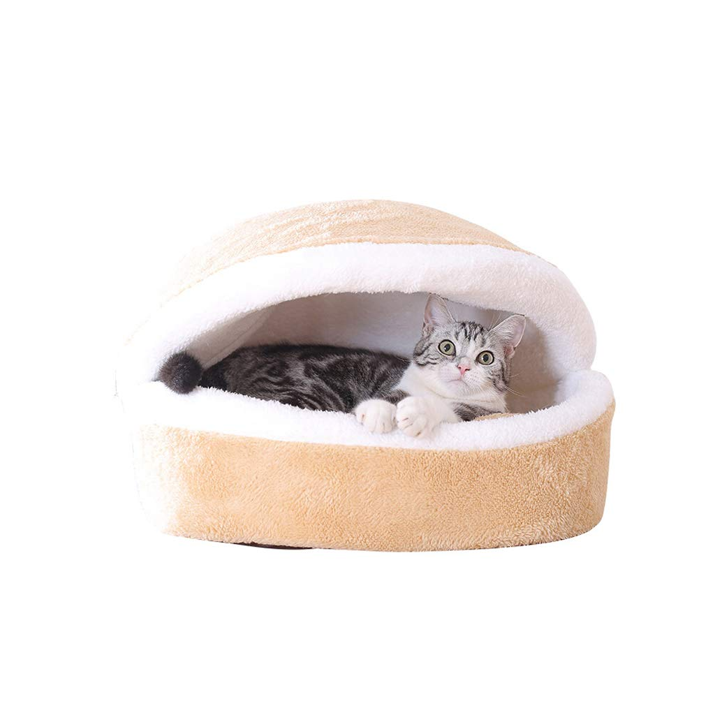 M TLTLCWW Cat Bed, Removable And Washable Closed Pet Cat Sleeping Bag Winter Pet Cat Mat, Multi-size (Size   M)