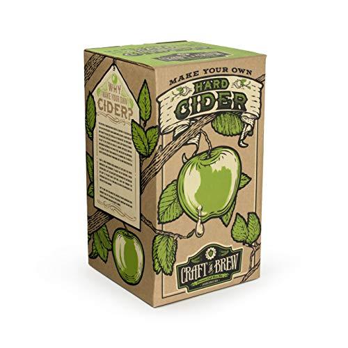 (Home Brewing Kit for Cider - Craft A Brew Hard Cider Kit - Reusable Make Your Own Cider Kit - Starter Set 1 Gallon)