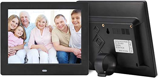 MP3 Music and 720P HD Video Playback Digital Picture Frame with Motion Sensor,White WW/&C 7inch Digital Photo Frame