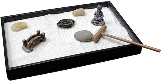 Desktop Mini Japanese Sand Garden Kit with Bamboo Tray Zenfy Zen Garden Kit