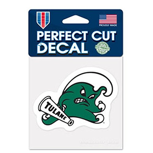 WinCraft NCAA Tulane Green Wave 4x4 Perfect Cut Color Decal, One Size, Team Color ()