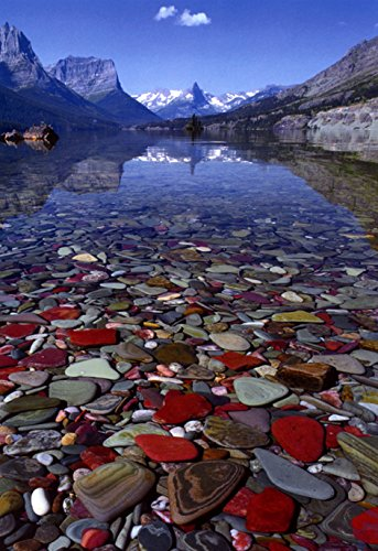 Glacial Lake Poster, Glacier National Park, Montana, Outdoors, Big Sky Country