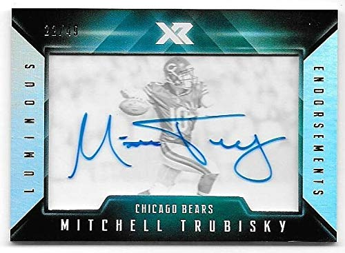 2017 Panini XR Luminous Endorsements #MT Mitchell Trubisky Autograph RC #22/49