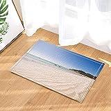 Sea Decor,Beautiful Beach on Peaceful Clean Island Bath Rugs,Non-Slip Doormat Floor Entryways Indoor Front Door Mat,Kids Bath Mat,15.7x23.6in,Bathroom Accessories