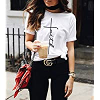 Blusa Playera Camiseta Dama Faith Fe Cruz Elite #509
