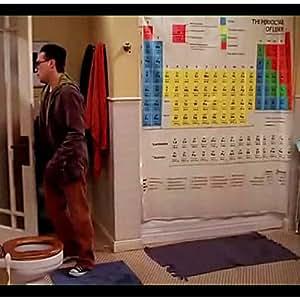 Cortina de ducha Tabla Periódica de Big Bang Theory
