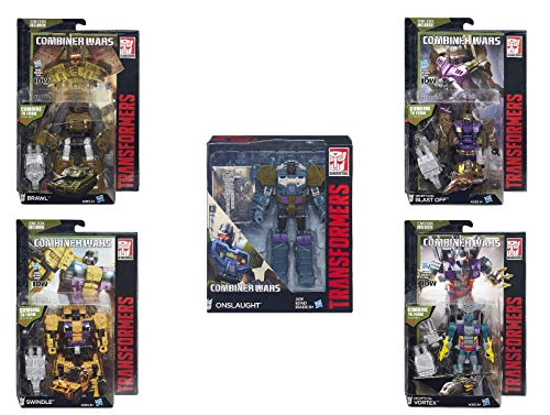 Transformers Generations Combiner Wars Bruticus Action Figure Set (Onslaught, Vortex, Brawl, Swindle and Blast Off) ...