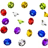 Acrylic Colorful Round Treasure Gemstones for Table Scatter, Vase Fillers, Event, Wedding, Arts & Crafts, Birthday Decorations Favor (36 Pieces) by Super Z Outlet® (Assorted)