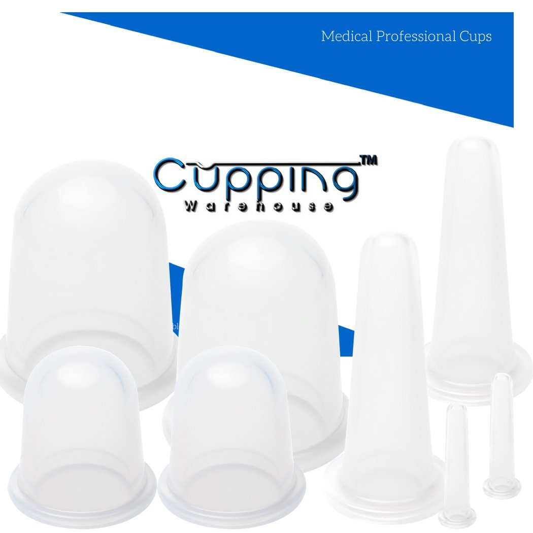 Classic 8 - Professional Medical Silicone Cupping Therapy Set with FREE Online Video's and Tutorials. Cupping Set by Cupping Warehouse TM