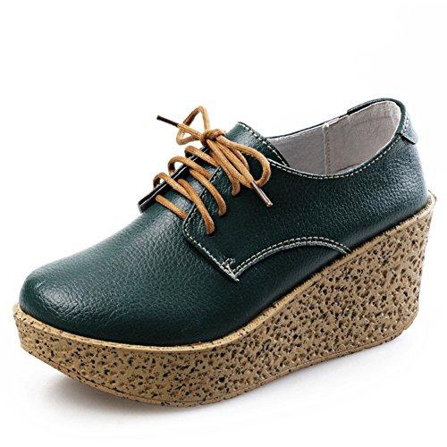 Primavera cuñas zapatos del ocio UK/Zapatos de plataforma con suela gruesa dermIS mujeres/Zapatos planos/Mujeres zapatos casuales A