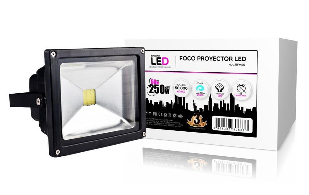 Biwond RFM50 - Foco led proyector, Color Negro: Amazon.es: Electrónica