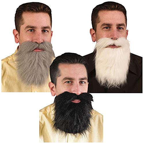 Fun World Accessorie's Men's Gray Mustache and Beard, -