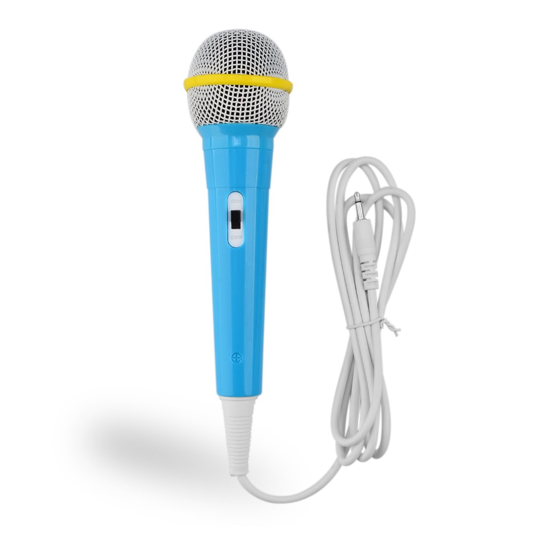 TXXCI Children Wired Microphone Mic Karaoke Singing Kid Funny Gift Music Toy Wired Kids Children Electronic Microphone - Blue (Blue)