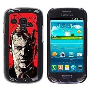 Shell-Star Arte & diseño plástico duro Fundas Cover Cubre Hard Case Cover para Samsung Galaxy S3 III MINI (NOT REGULAR!) / I8190 / I8190N ( Metamorphosis Red Poster Man Book )