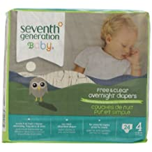 Seventh Generation Baby Overnight Diapers, Size 4, 24ct (Packaging may vary)