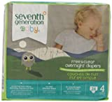 Seventh Generation Baby Overnight Diapers, Size 4, 24ct