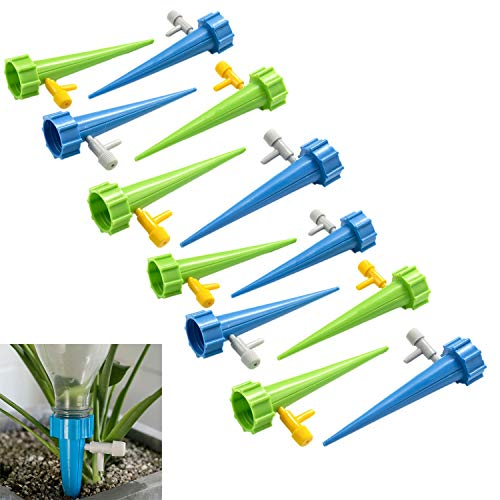 Chris.W 12pcs Plant Waterer Self Watering Spikes,