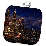 3dRose Cities Of The World - Petronas Twin Towers In Kuala Lumpur, Malaysia - 8x8 Potholder (phl_268654_1)