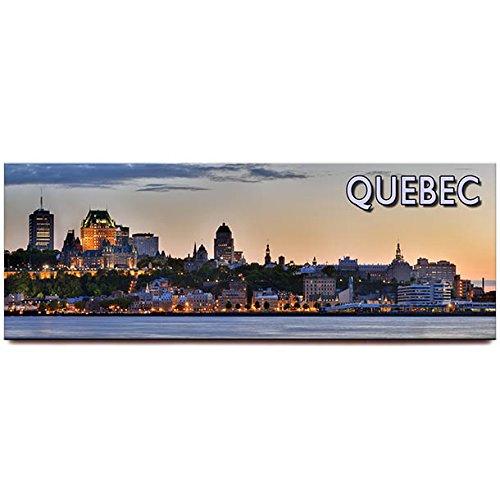Quebec City panoramic fridge magnet Canada travel souvenir (Best Of Quebec City)