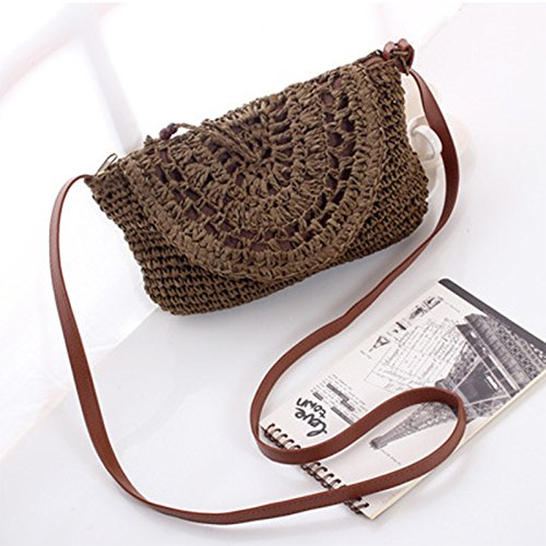 Beach Summer Tonpot Beige Bag Shoulder Pcs Ladies Girls Straw Beach 1 Bag for Bag Women for Everyday and Use Womens Travel PqP1Rg0r