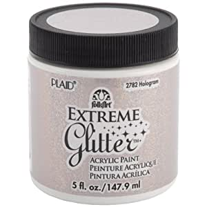 FolkArt Extreme Glitter Acrylic Paint in Assorted Colors (5-Ounce), 2782 Hologram