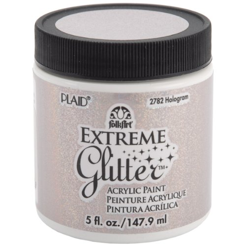 FolkArt Extreme Glitter Acrylic Paint in Assorted Colors (5-Ounce), 2782 Hologram ()