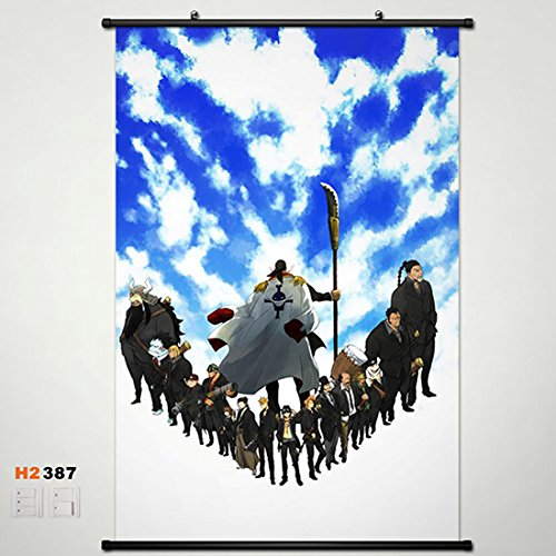 Home Decor Anime One Piece Edward Newgate Wall Scroll Poster Fabric Painting 23.6*35. 387