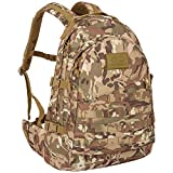Highlander Military Tactical Assault Backpack – The Recon 40L Waterproof Daysack with Multiple MOLLE Attachment Points for Extra Accessories and Equipment (HMTC)